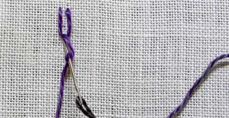 How to work Italian Border stitch step 4