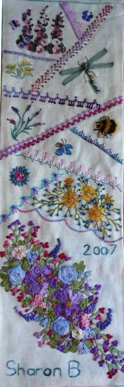 crazy quilting stitches sampler