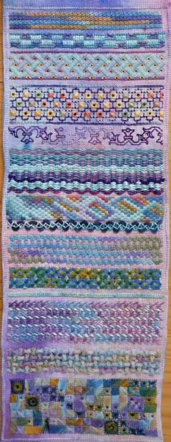 section 3 of needlework sampler