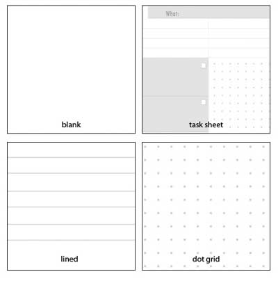 notebook page options