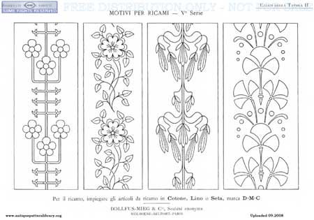 more free patterns from the antique pattern library