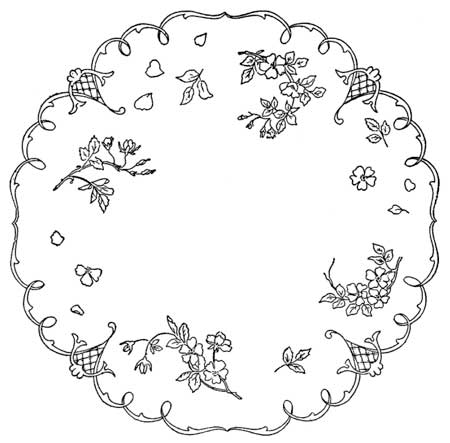 hand embroidery pattern detail