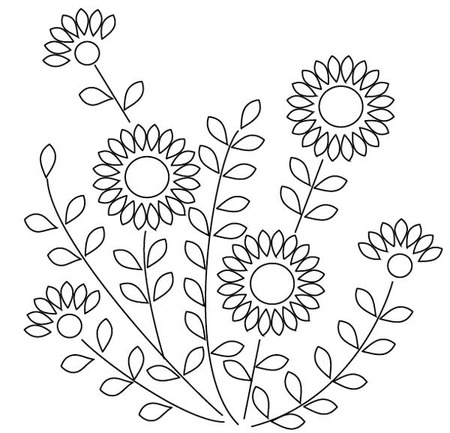 A Free hand embroidery design from me - Pintangle