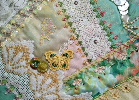 Show and Tell another crazy quilt block complete