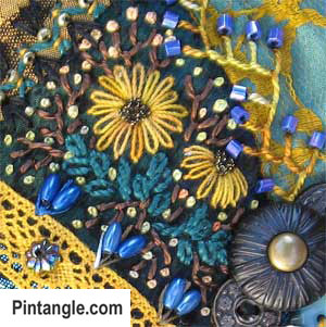 Day 87 of 100 crazy quilt details