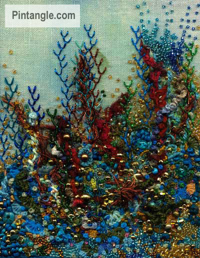 Underwater embroidery sample day 100