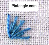 How to work long and short stitch tutorial step 5