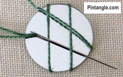 How to work Shisha stitch tutorial step 2