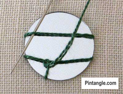 How to work Shisha stitch tutorial step 3