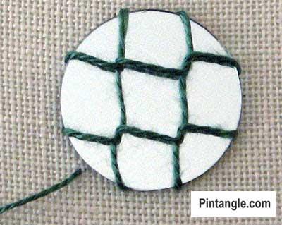 How to work Shisha stitch tutorial step 5