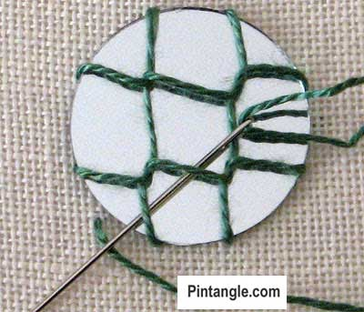 How to work Shisha stitch tutorial step 6