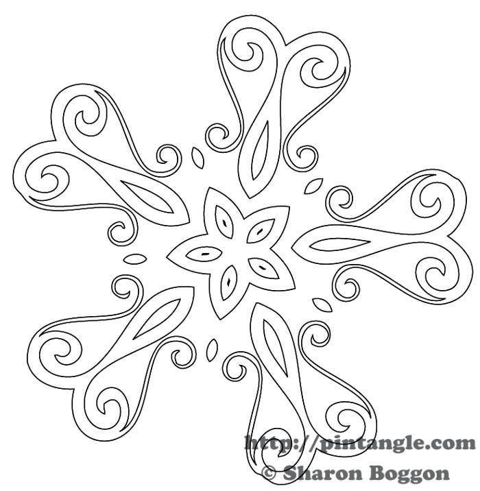 Free hand embroidery pattern pintangle