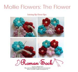 screen shot of crochet mollie flowers