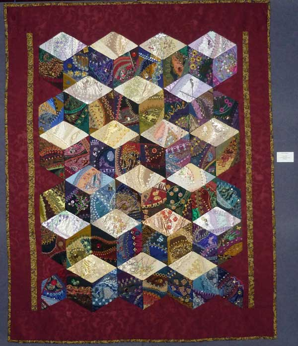 Work in Progress Wednesday: Assembling a crazy quilt, tying the ... : crazy quilts pictures - Adamdwight.com