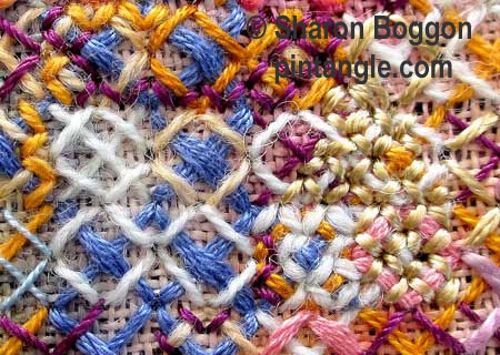 Rice stitch detail