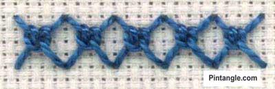 Sorbello Stitch step by step Tutorial 4
