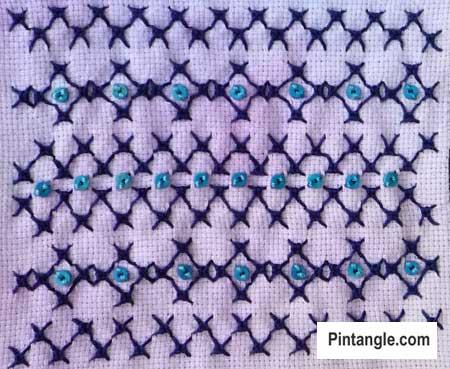 Sorbello Stitch sample 3