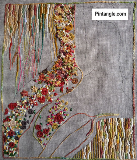 From Studio Journal Design to Embroidery: A hand embroidered file cover part 2