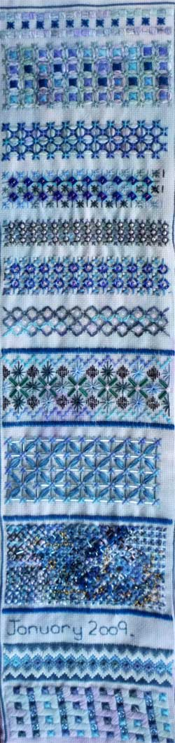 Section 35 on the For Love of Stitching Band Sampler