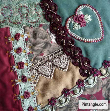 Lace Crazy Quilt Block 19