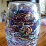 full jar of threads