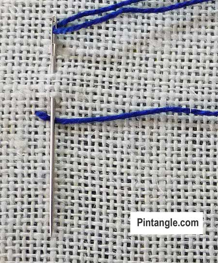 step by step illustrated stitch instructions for Cretan Stitch1
