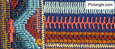 Sample of Cretan stitch 2