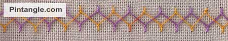 Sample of Cretan stitch 4