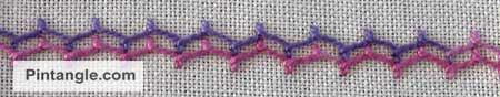 Sample of Cretan stitch 5