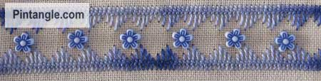 Sample of Cretan stitch 7