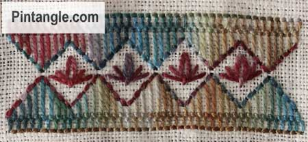 Sample of Cretan stitch 8