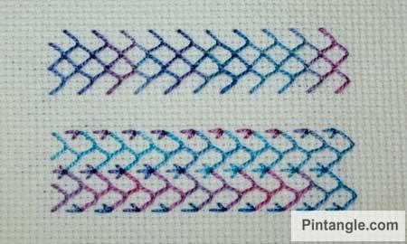 Feather stitch sample 2