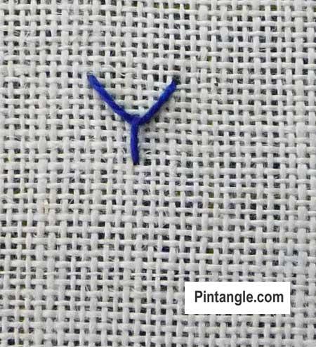 Fly stitch step by step 2