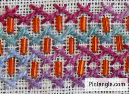Herringbone stitch idea 2