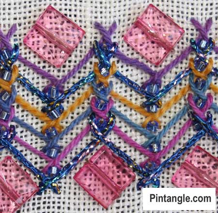 How to work Herringbone Stitch