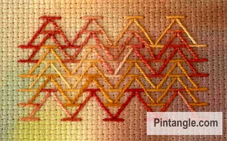 Chevron stitch sample 2