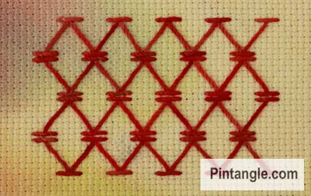 Chevron stitch sample 3