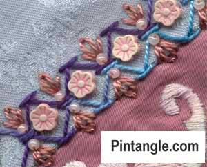 Chevron stitch sample 4 week 10