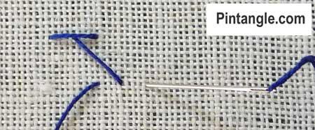 Chevron stitch step by step 3