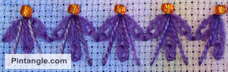 sample of detached chain the lazy daisy stitch 2