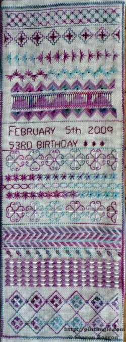 Section 37 on the For Love of Stitching sampler