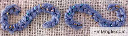 chain stitch sample 2