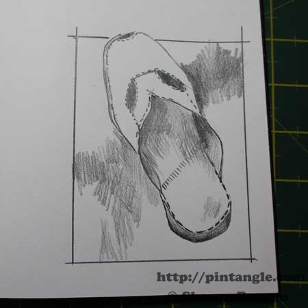 EDM drawing challenge of a shoe