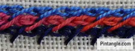 barred chain stitch sample 2