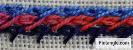 barred chain stitch sample 2