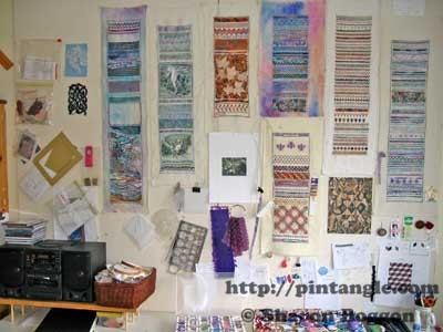 samplers on wall