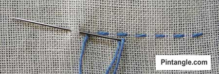 How to work running stitch