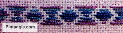 running stitch pattern darning sample 2