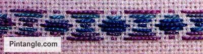 running stitch pattern darning sample 2
