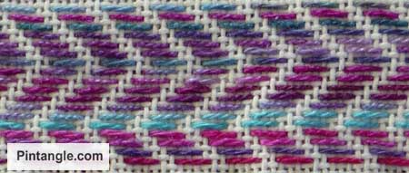 running stitch pattern darning sample 3